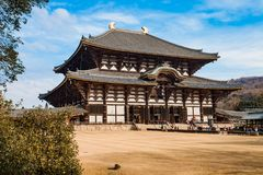 Todaiji Temple. On a sunny winter`s morning in Nara, Japan Royalty Free Stock Photography