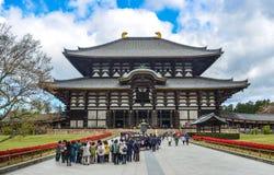 Todaijitempel in Nara Prefecture, Japan stock foto