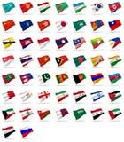 Todas as bandeiras do asian ilustração stock