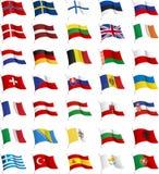 Todas as bandeiras do europeu. Imagens de Stock Royalty Free