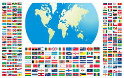 Todas as bandeiras do mundo Imagem de Stock Royalty Free