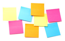 Todas as cores de notas pegajosas Imagem de Stock Royalty Free