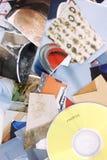 Todas as fotos no CD Imagens de Stock