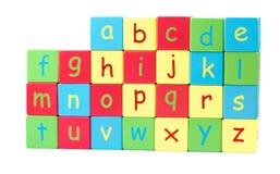Todas as letras do alfabeto Foto de Stock Royalty Free