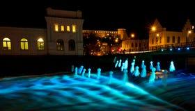 Todas as luzes em Upsália II fotografia de stock royalty free