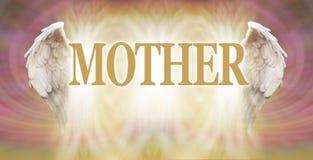 Todas as mães são anjos na terra ilustração stock
