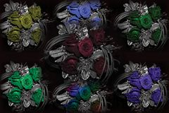 Todas as rosas da cor o têm imagens de stock royalty free