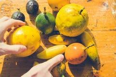 Todas as versões do fruto de paixão Foto de Stock