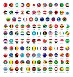 Todas las banderas nacionales oficiales del mundo Diseño circular libre illustration
