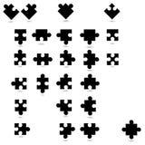 Todas las formas posibles de los pedazos del rompecabezas Imagen de archivo