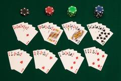 Todas las manos de póker Imagen de archivo libre de regalías