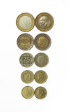 Todas las monedas de la lira del turco Fotos de archivo