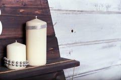 Todavía Años Nuevos de vida con las velas Foto de archivo libre de regalías