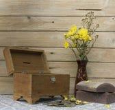 Todavía caja vieja del tesoro de la vida Imágenes de archivo libres de regalías