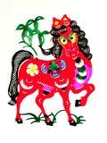 Todavía categorías: Papel-corte chino del zodiaco Fotografía de archivo