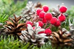 Todavía composición de la vida con las decoraciones de la Navidad Imagen de archivo