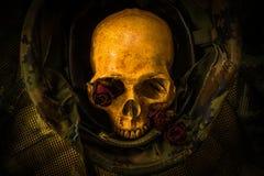 Todavía cráneo del soldado de la vida Fotos de archivo