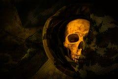Todavía cráneo del soldado de la vida Imagen de archivo libre de regalías