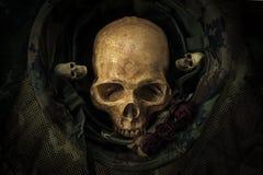Todavía cráneo del soldado de la vida Foto de archivo libre de regalías