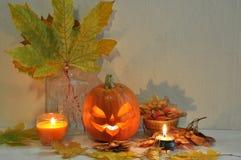 Todavía de Halloween vida con la calabaza Imagenes de archivo