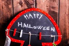 Todavía de Halloween vida de calabazas, inscripción, sombras Fotografía de archivo