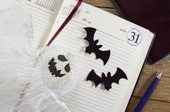 Todavía de Halloween vida en la oficina 1 Imágenes de archivo libres de regalías