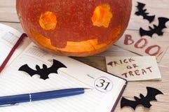 Todavía de Halloween vida en la oficina 3 Fotografía de archivo libre de regalías