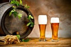 Todavía de la cerveza vida Fotografía de archivo libre de regalías