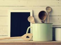 Todavía de la cocina vida casera, estilo del vintage Fotografía de archivo
