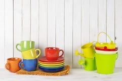 Todavía de la cocina vida colorida Fotos de archivo libres de regalías