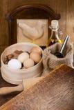 Todavía de la cocina vida con los huevos Imagen de archivo libre de regalías