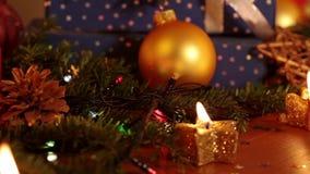 Todavía de la Navidad vida con la guirnalda eléctrica metrajes