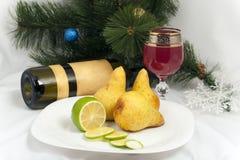 Todavía de la Navidad vida con la fruta Foto de archivo