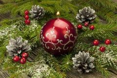 Todavía de la Navidad vida con la vela Imágenes de archivo libres de regalías