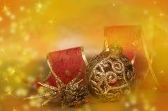 Todavía de la Navidad vida con las decoraciones foto de archivo libre de regalías