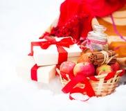 Todavía de la Navidad vida con las decoraciones, las galletas y p de una Navidad Fotografía de archivo