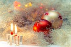 Todavía de la Navidad vida con las velas Imagen de archivo libre de regalías