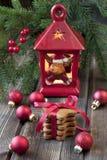 Todavía de la Navidad vida con símbolos brillantes Imágenes de archivo libres de regalías