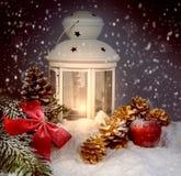 Todavía de la Navidad vida con una linterna Imagen de archivo