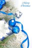 Todavía de la Navidad vida en azul Fotos de archivo libres de regalías