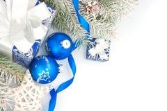 Todavía de la Navidad vida en azul Imagen de archivo