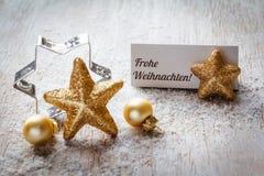 Todavía de la Navidad vida en la madera, tarjeta del lugar, Feliz Navidad Fotografía de archivo libre de regalías