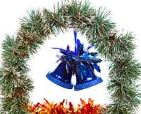 Todavía de la Navidad vida en un fondo blanco Fotografía de archivo libre de regalías