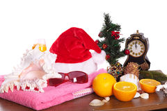 Todavía de la Navidad vida sobre blanco Imagen de archivo