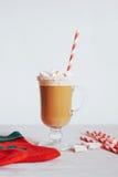 Todavía de la Navidad vida - taza de chocolate caliente con las melcochas Fotos de archivo
