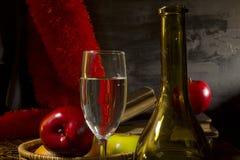Todavía de la vendimia vida con el vino Fotos de archivo libres de regalías