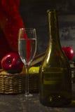 Todavía de la vendimia vida con el vino Fotos de archivo