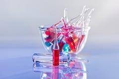 Todavía de las ampollas vida médica Fotografía de archivo libre de regalías