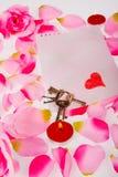 Todavía de las tarjetas del día de San Valentín vida Fotos de archivo libres de regalías