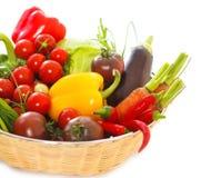 Todavía de las verduras vida en el fondo blanco Imagen de archivo libre de regalías